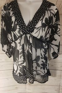 Fashion Bug Sheer Plus Size Blouse